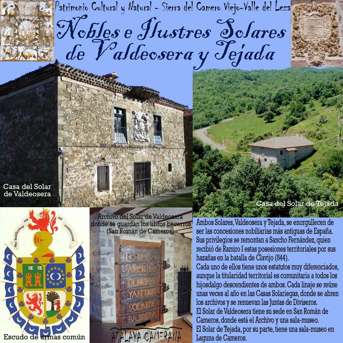 Sierra del Camero Viejo: Patrimonio Cultural y Natural. Nobles e Ilustres Solares de Tejada y Valdeosera.