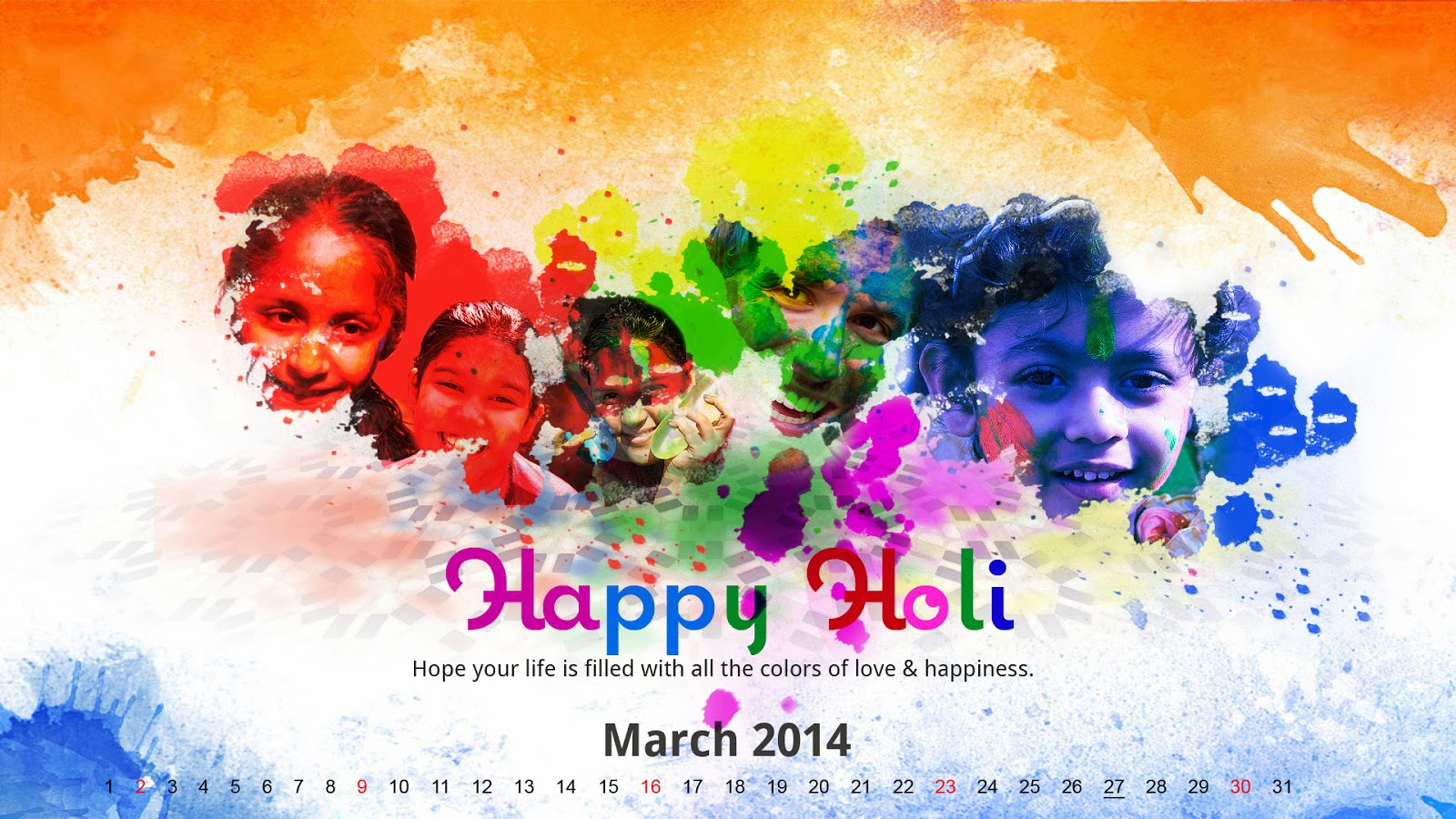 Happy holi 17 march 2014 cover photos