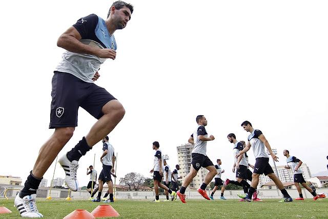 O atacante uruguaio Navarro marcou quatro gols nos últimos dois jogos do Botafogo (Foto: Vitor Silva/SS Press)