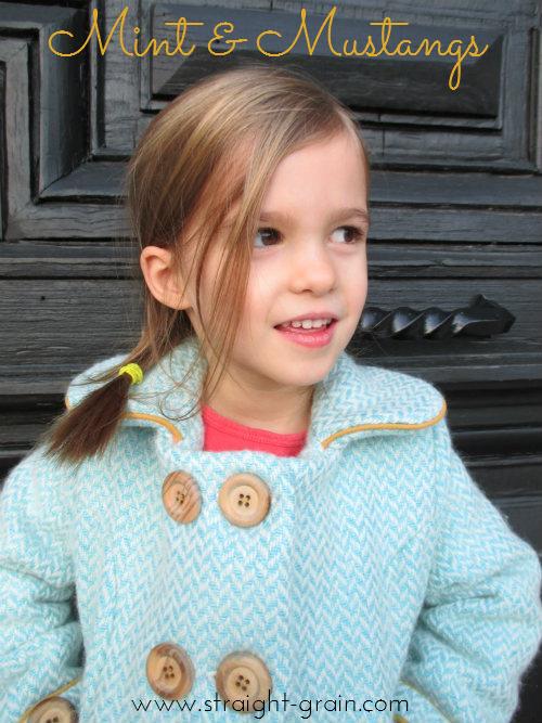 Dear My Kids, Trendy Unisex Pea Coat {flipped by: StraightGrain}