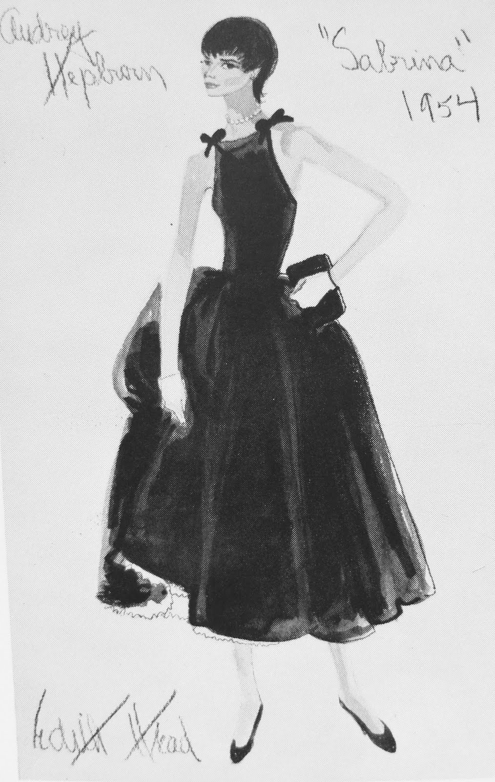 Audrey Hepburn Little Black Dress Sabrina