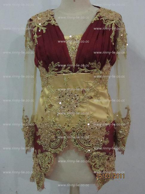Kebaya Tuk Pesta Kanemochi Wedding Gown Jahit Gaun Pesta