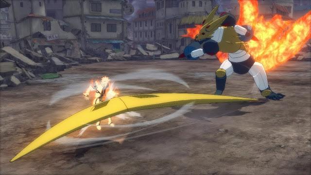 Mecha Kurama Bommerang  attack