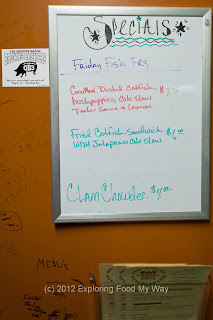 Friday Fish Fry Menu