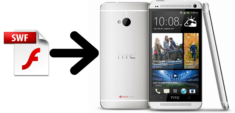 how to play Flash on HTC One