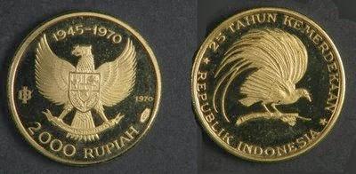 Uang Koin Pecahan 2.000 Rupiah 1970