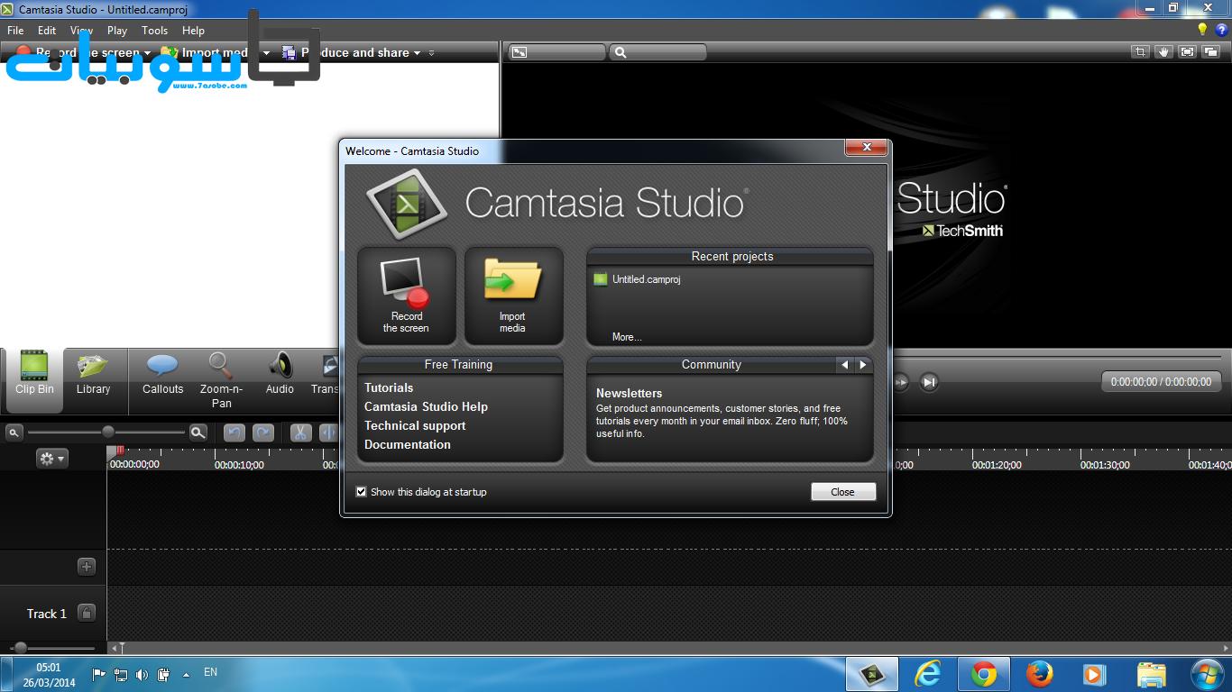 برنامج Camtasia Studio 8 لتصوير سطح المكتب وعمل مونتاج للفيديوهات باحترافية كاملة
