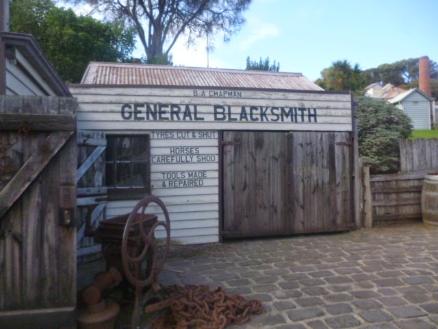 Blacksmith outside