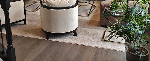 different shades of hardwood add a different feel to the room