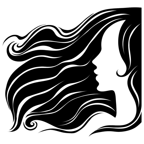 Dibujos SILUETAS rostros de mujer - Imagui