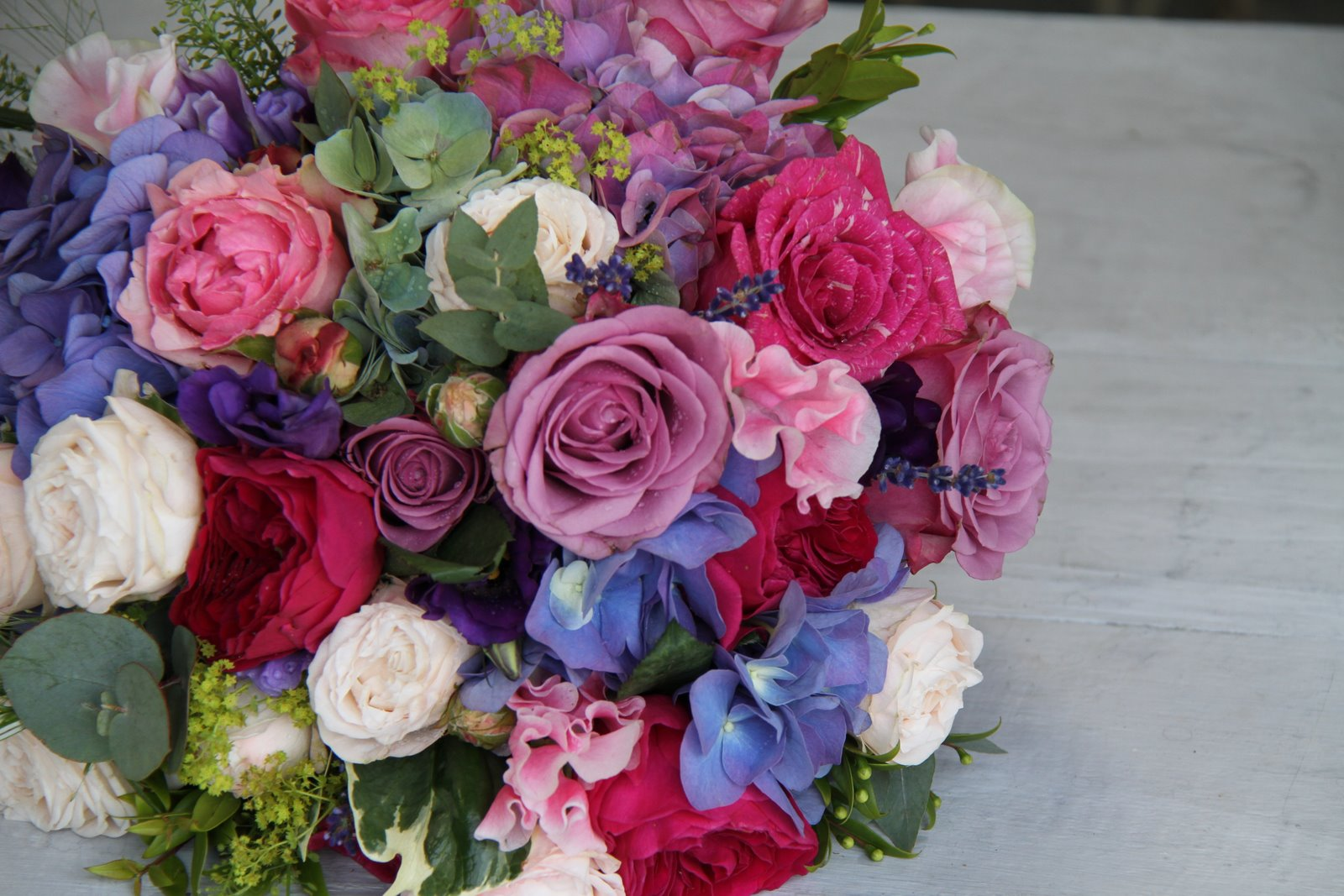 The Flower Magician Pink Blue Wedding Bouquet
