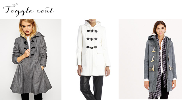 The toggle coat - one five winter coats you need to keep warm and stylish in 2015.