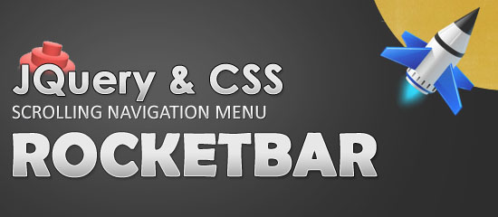 3. RocketBar – A jQuery And CSS3 Persistent Navigation Menu