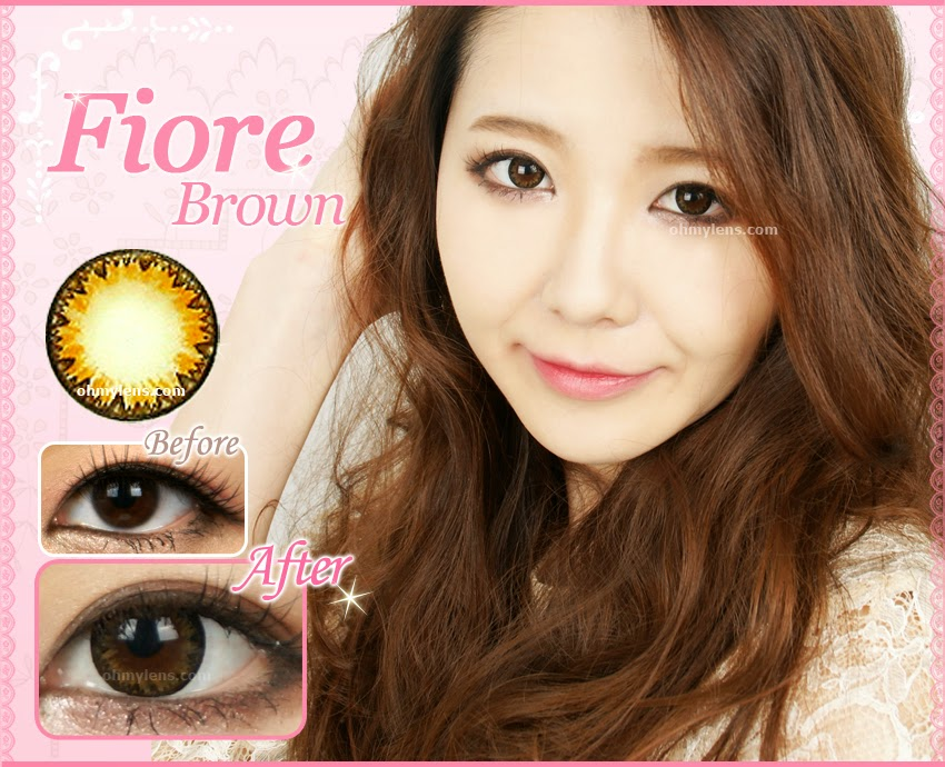Fiore Brown Contact Lenses at ohmylens.com