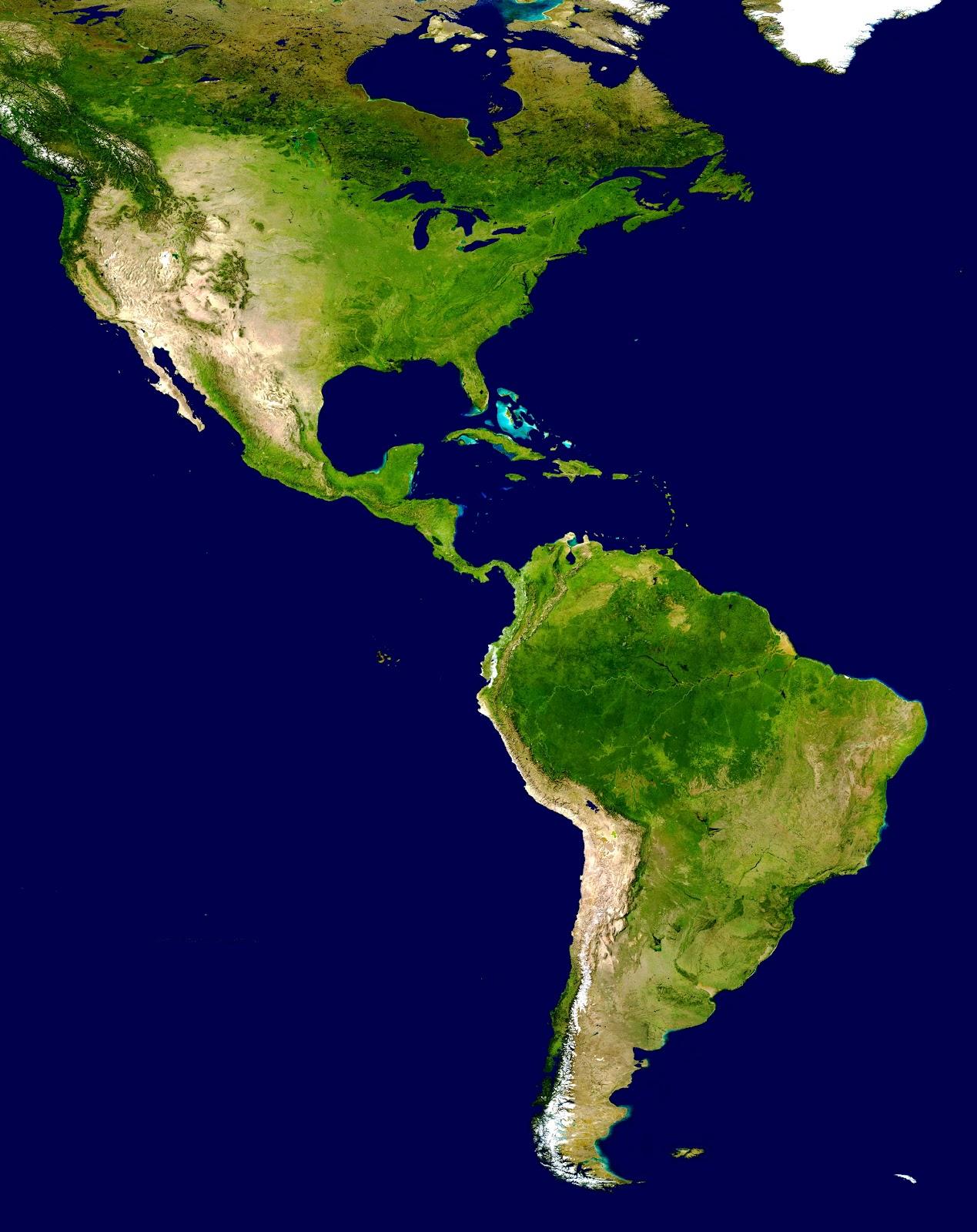 américa imagem de satélite o continente americano é comumente ...