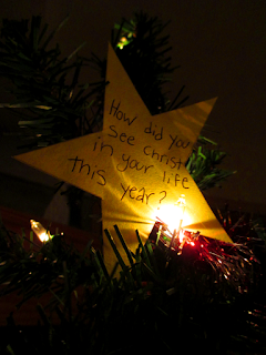 How did you see Christ in your life this year? star