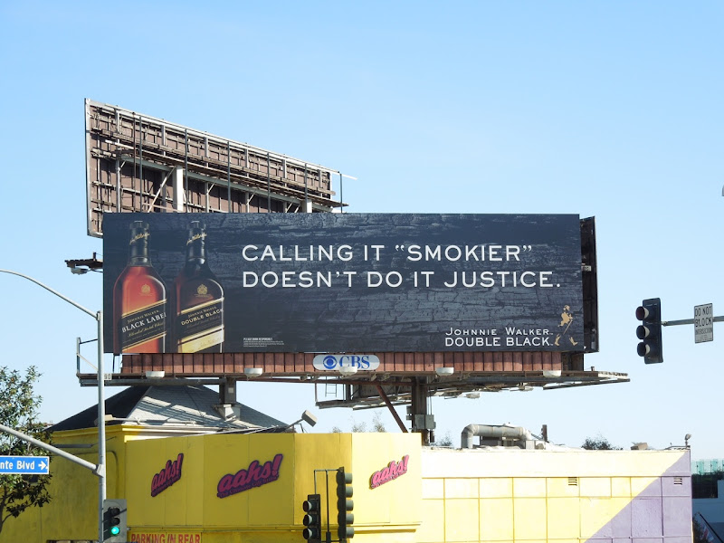 Smokier Johnnie Walker Double Black billboard