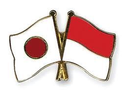 Bendera Indonesia dan Jepang