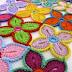 Idea: camino de flores en crochet