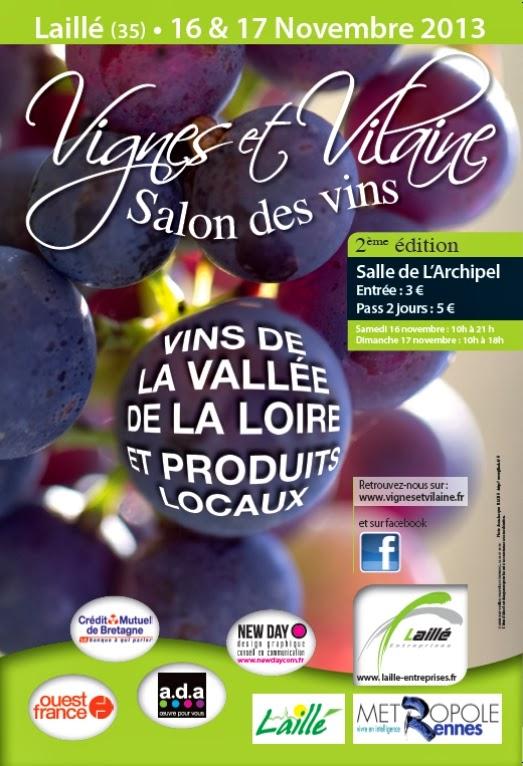 Terres de roa vignes et vilaine salon des vins de laille for Calendrier salon des vins