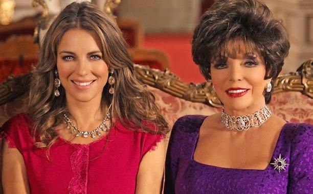 Image result for joan collins elizabeth hurley the royals