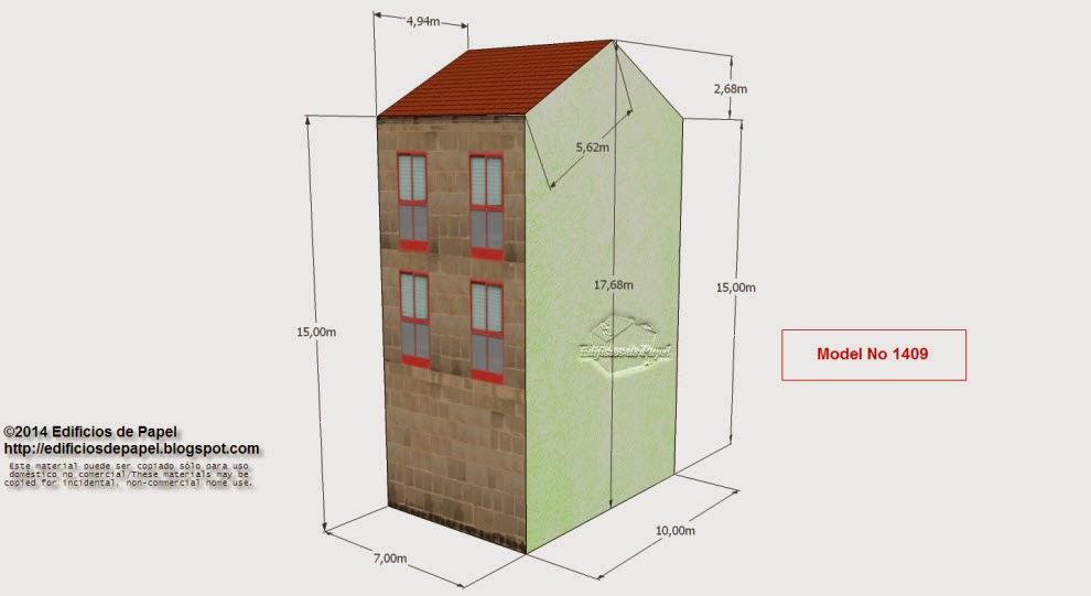 "Edficios de Papel - Modelo 1409 Edificio Granito 4 - Serie ""Ourense"", subserie ""Granito"""