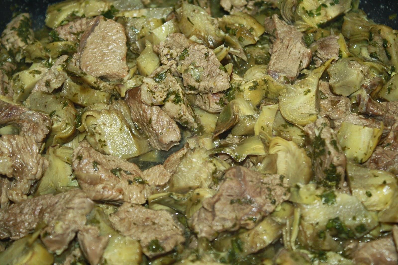 carne con carciofi