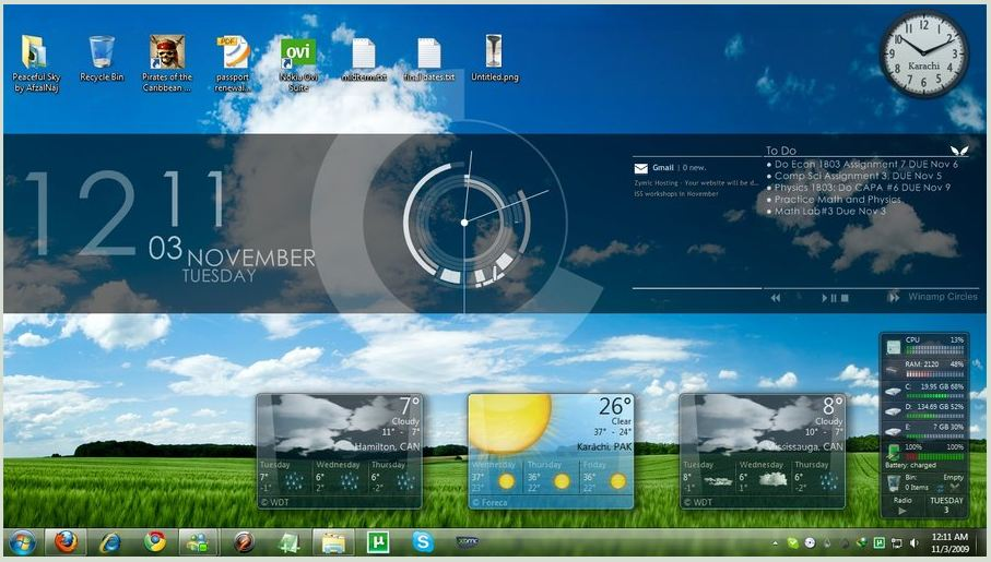 Rainmeter programa para personalizar tu escritorio foro for Bureau windows 7 rainmeter