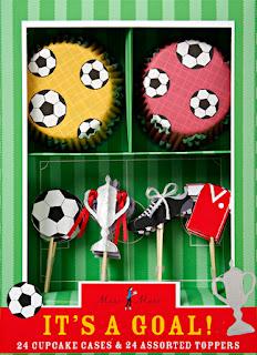 Fodbold cupcakes - EM hygge