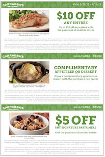 Carrabba's coupons printable