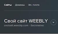 Новая админка сайтов Weebly