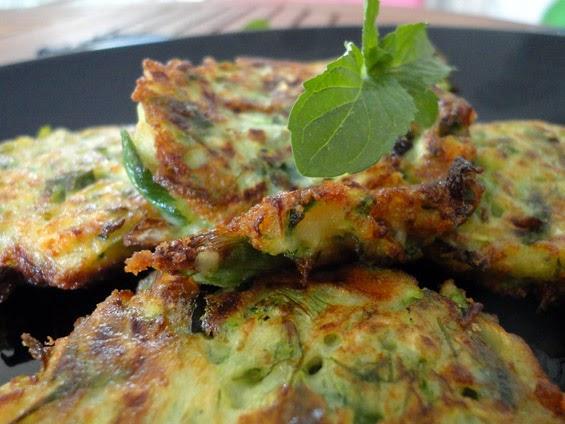 Zucchini balls with ouzo and mint, Mediterranean Diet, Santorini recipe,