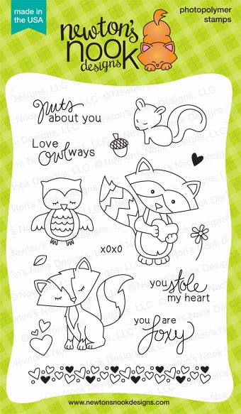 Sweetheart Tails 4 x 6 Stamp set by Newton's Nook Designs