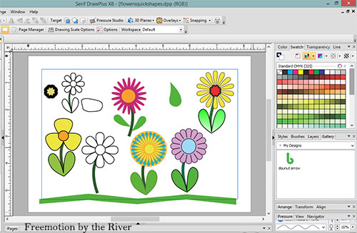 Drawing flowers with Serif DrawPlus X8