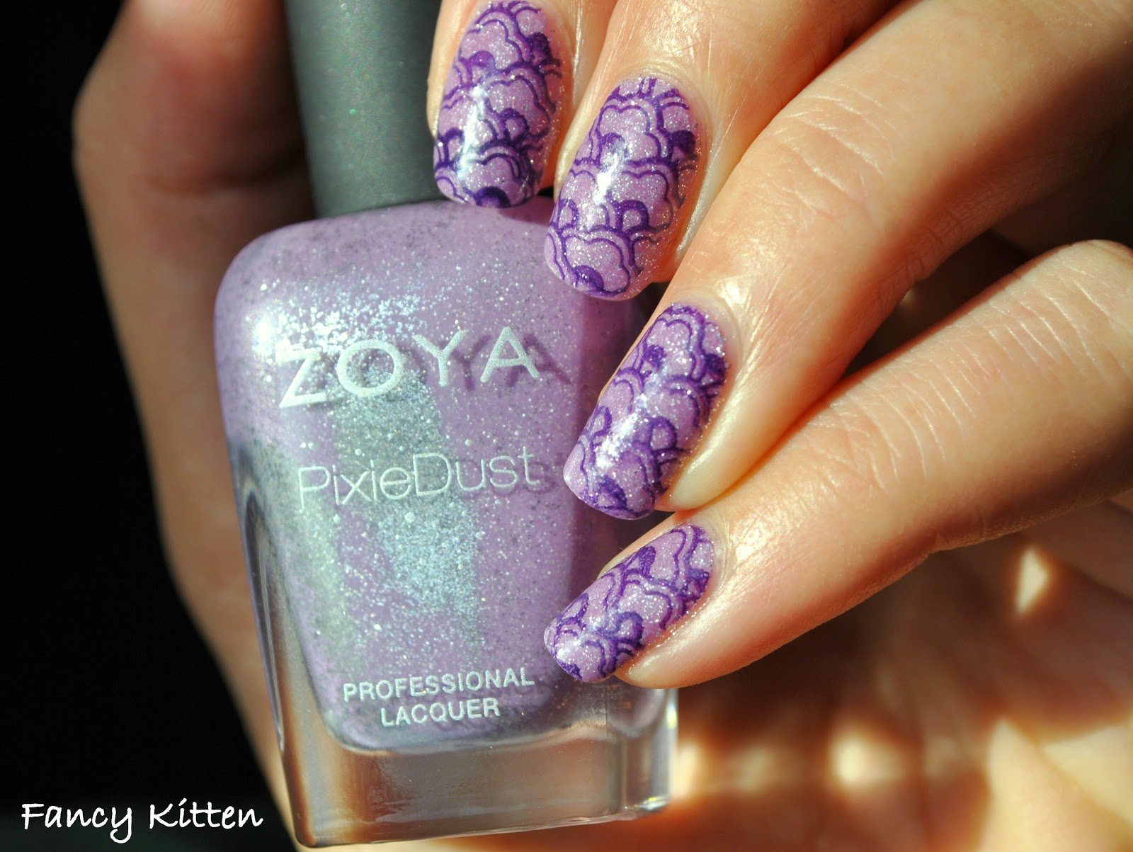 Zoya Stevie orly wild wisteria stamping pueen15