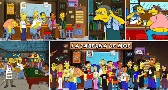 Moe's tavern en The Simpsons