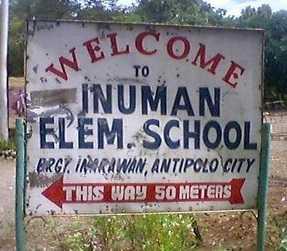 Inuman Elementary School Antipoly nakakatawang Signage ng pilipino