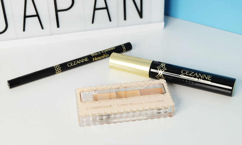 Cezanne eyeliner and mascara and Canmake concealers