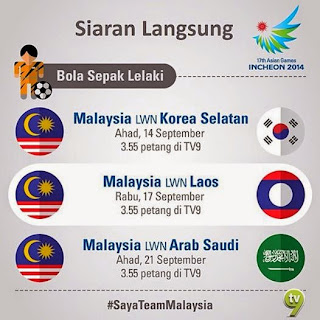 Siaran Langsung Malaysia Vs Arab Saudi Bolasepak Sukan Asia 2014