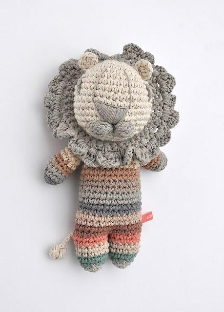 Amigurumi león de Miga de pan