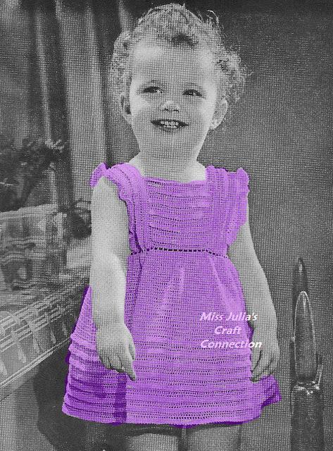 Free Knitting Pattern Pinafore Dress : Miss Julias Patterns: Free Patterns - 16 Baby Blankets to Knit & Cro...