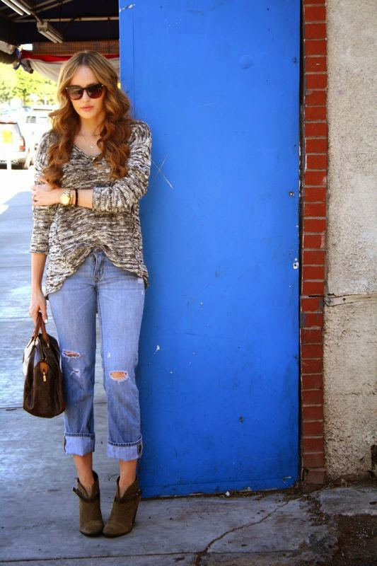 Sole society ankle boots- LA personal style blogger- Golden Divine Blog-Ashley Murphy-LA blogger-Michael Stars Sweater-Fall Trend