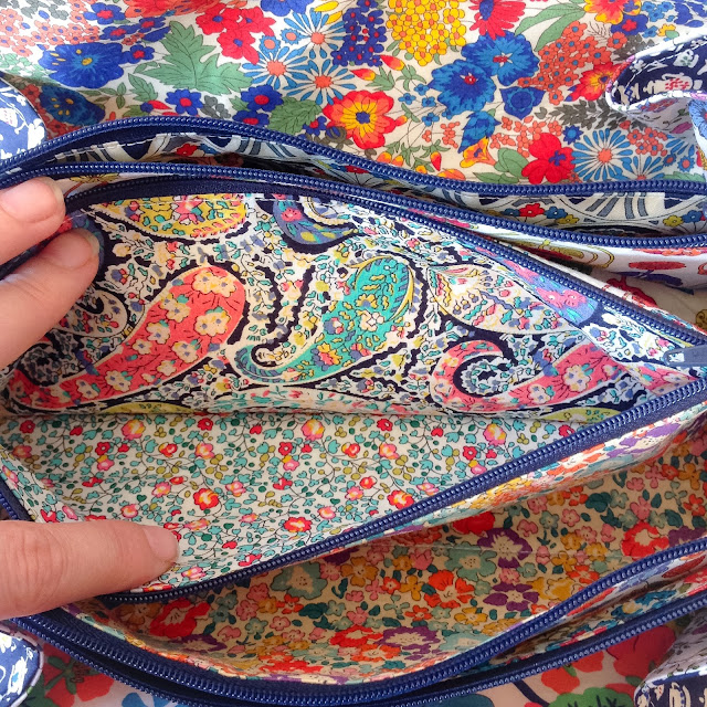 Second Liberty fabric pockets sew together bag by sew demented