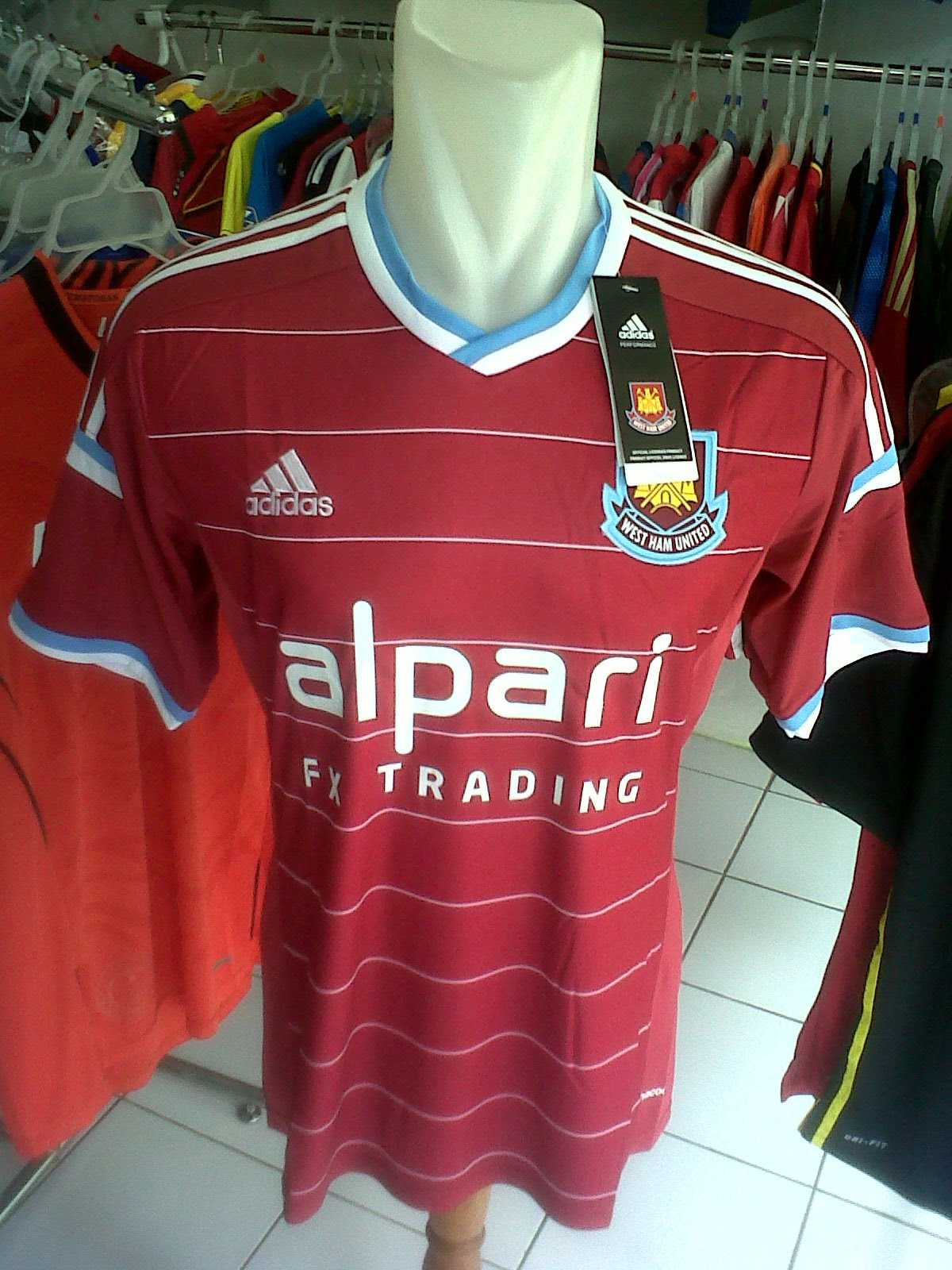 Jersey West Ham United Home 2014/2015