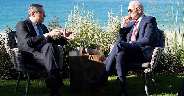 """G7, Draghi incontra Biden """"Siamo d'accordo su molti temi"""""""
