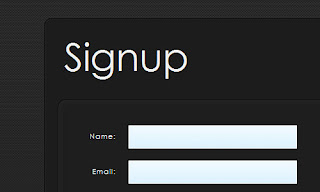 Carbon Fiber Signup Form
