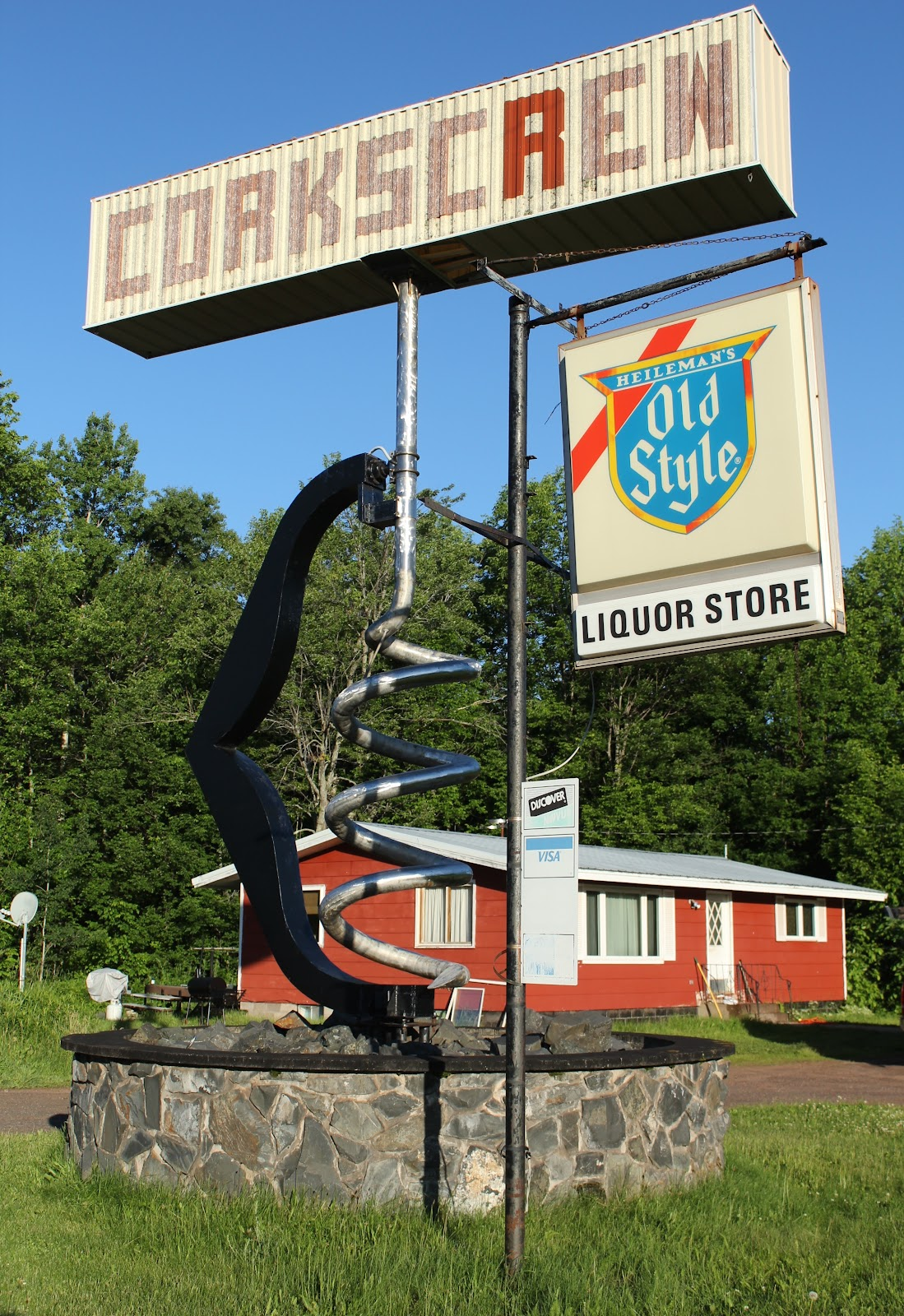 Wisconsin Historical Markers World S Largest Corkscrew