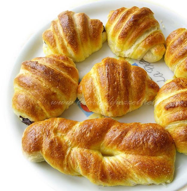 Croissants francesi passo passo