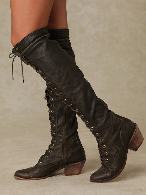 Ladies long boots for fall
