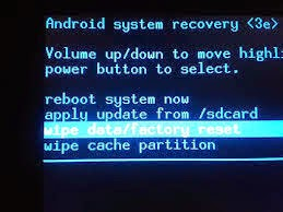 Reset factory smartphone android